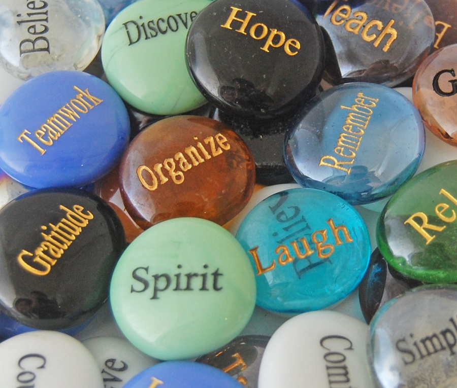 **Glass Engraved Spirit Stones - SOLD INDIVIDUALLY**
