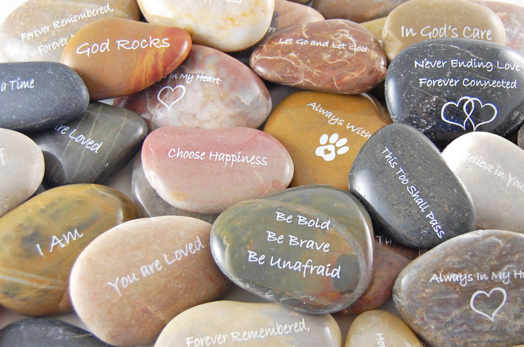 **Inspirational River Rocks - ENGRAVED - SOLD INDIVIDUALLY**