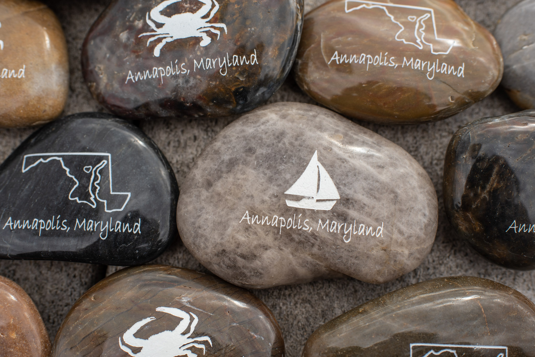 Annapolis, Maryland Name Drop Stones