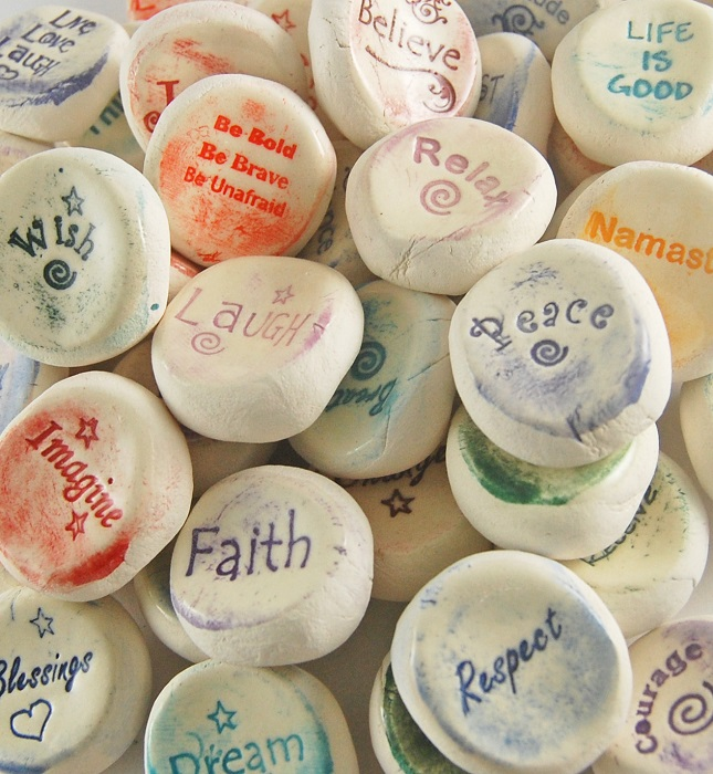 Ceramic Word Stones - Inspirational Assortment