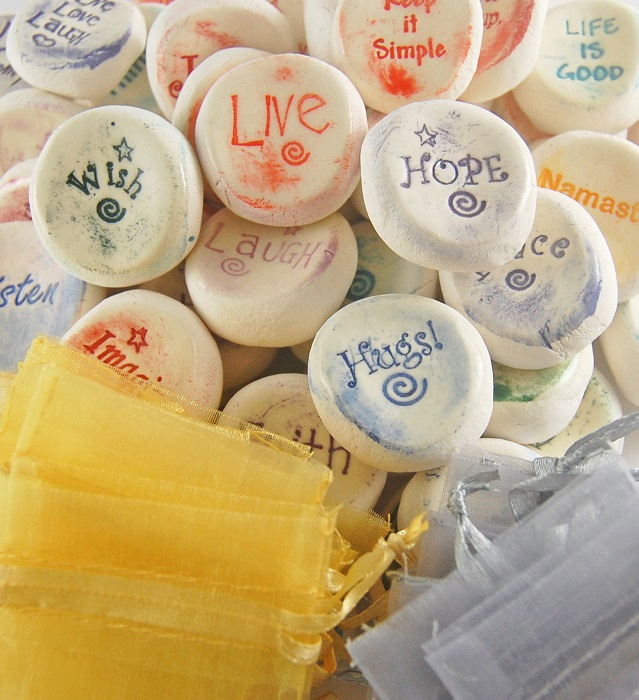 Ceramic Word Stones - Inspirational Refill Package - 50 Stones
