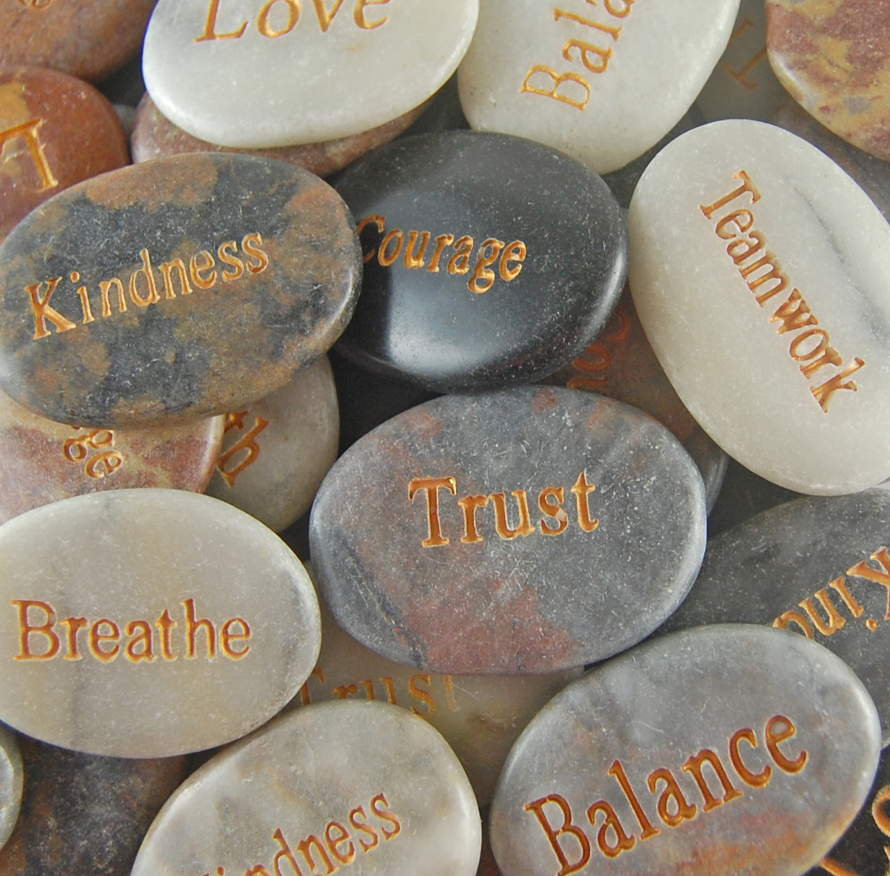 Engraved Marble Energy Stones - SOLD INDIVIDUALLY