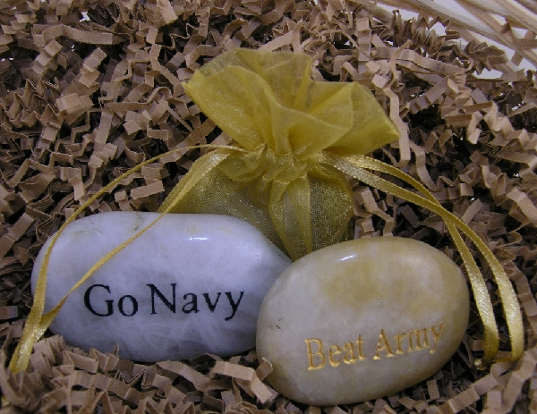 Go Navy Beat Army Double Sided Stone